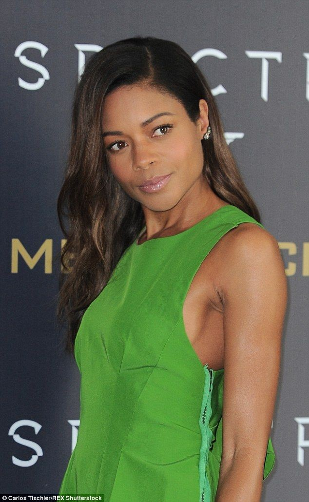Gorgeous in green: Naomie Harris once again domina...