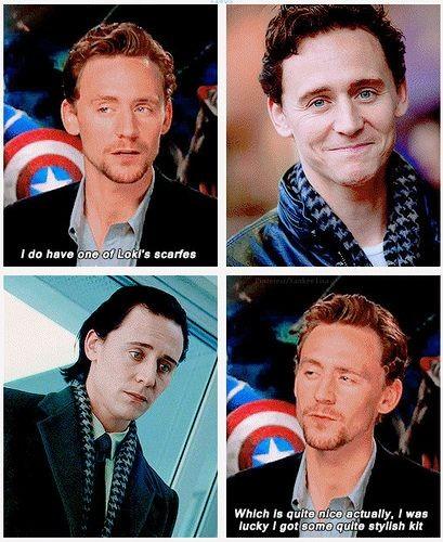 Tom Hiddleston - Loki looked fabulous coming down...