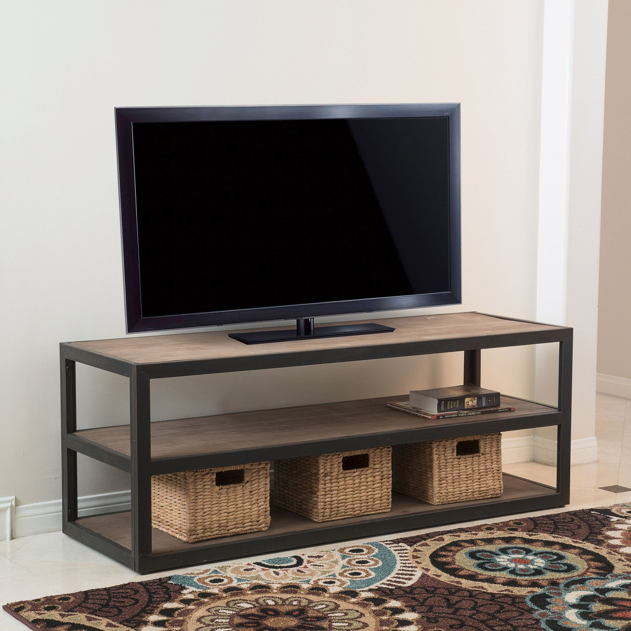 Lundin 3-Shelf Industrial Entertainment TV Console...