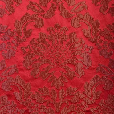 Astoria Red & Bronze Faux Silk Jacquard Fabric