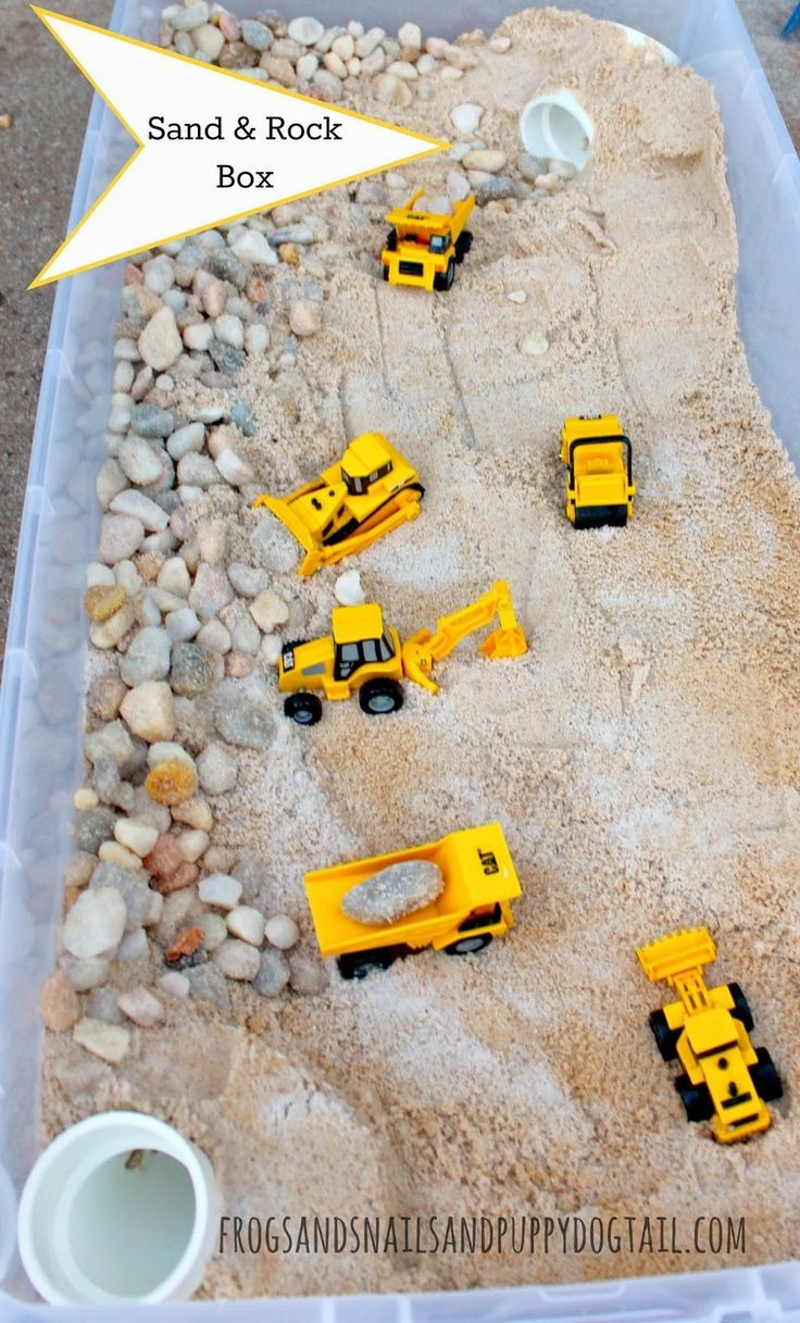 How to make a sand and rock box for your kids play...
