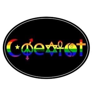 Coexist - Rainbow Pride Symbols - Pride LGBT Gay a...