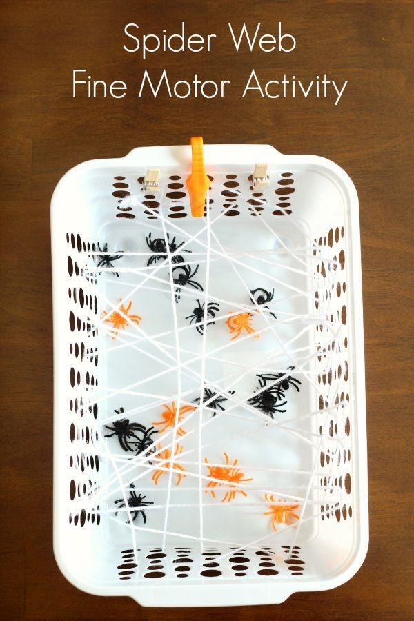 Spider web fine motor game for preschoolers and to...