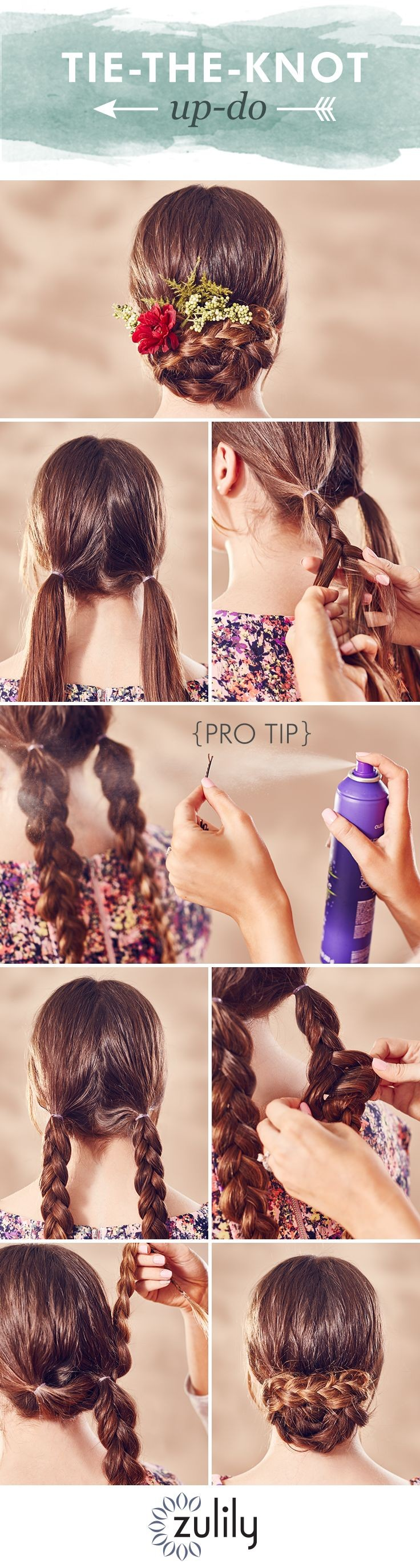 Wear this beautiful braided up-do to all your summ...