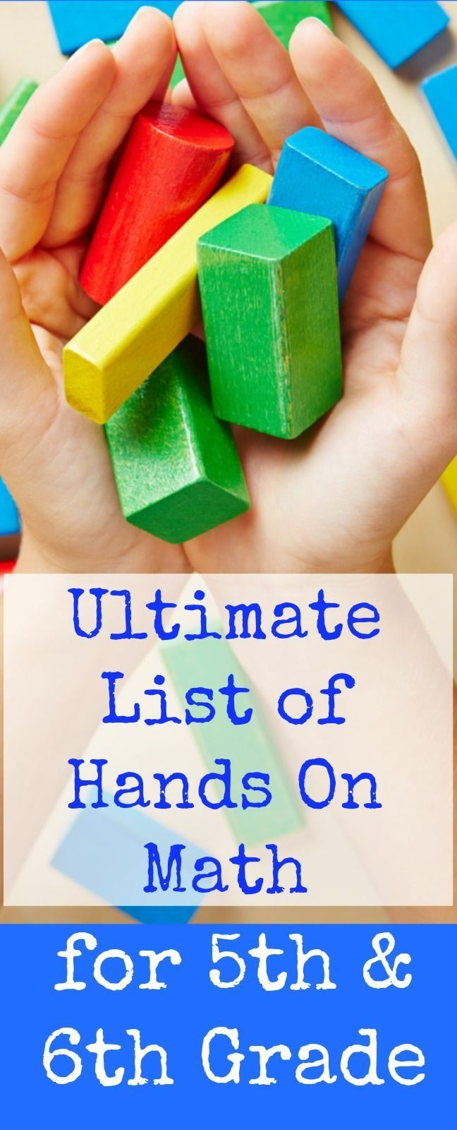 Ultimate list of hands on math for 5th grade and 6...
