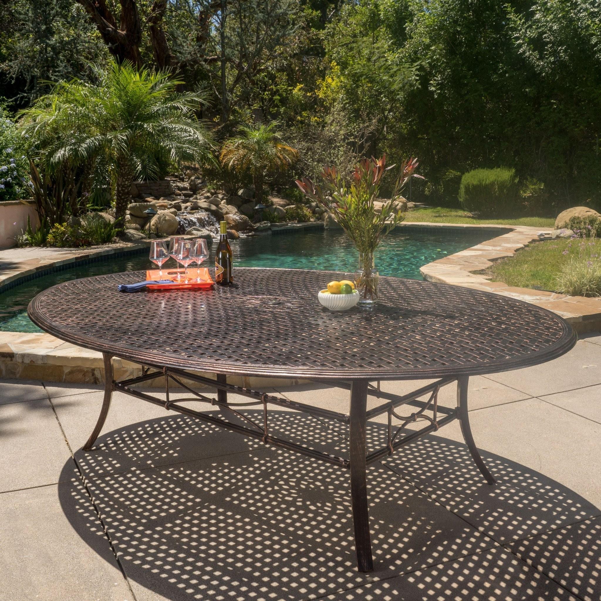 Frisco Shiny Copper Finished Aluminum Oval Dining...