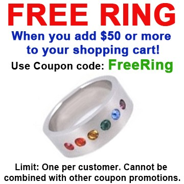 FREE with $50 or more! Coupon Code: FREERING - Get...