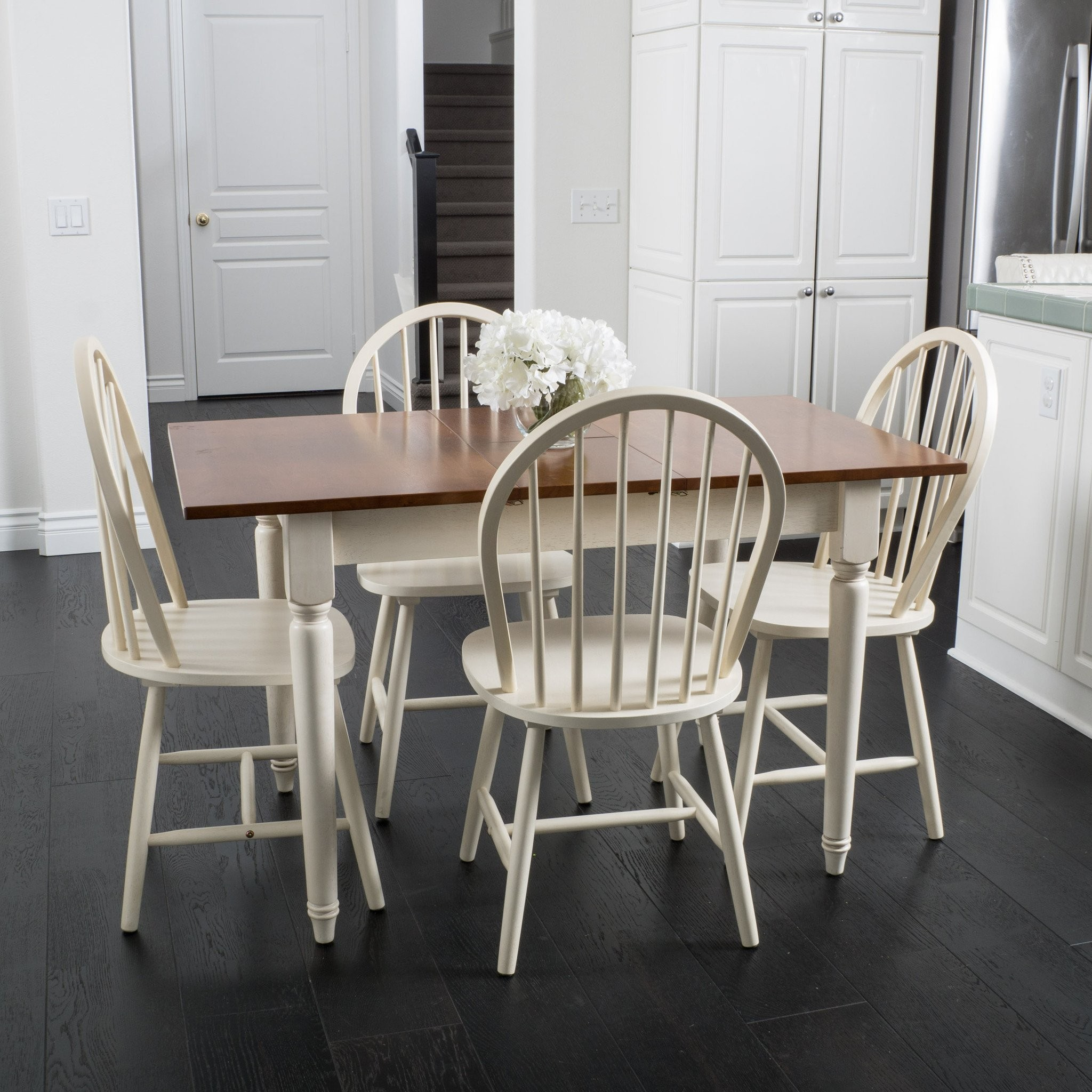 Gates 5-piece Spindle Wood Dining Set with Leaf Ex...