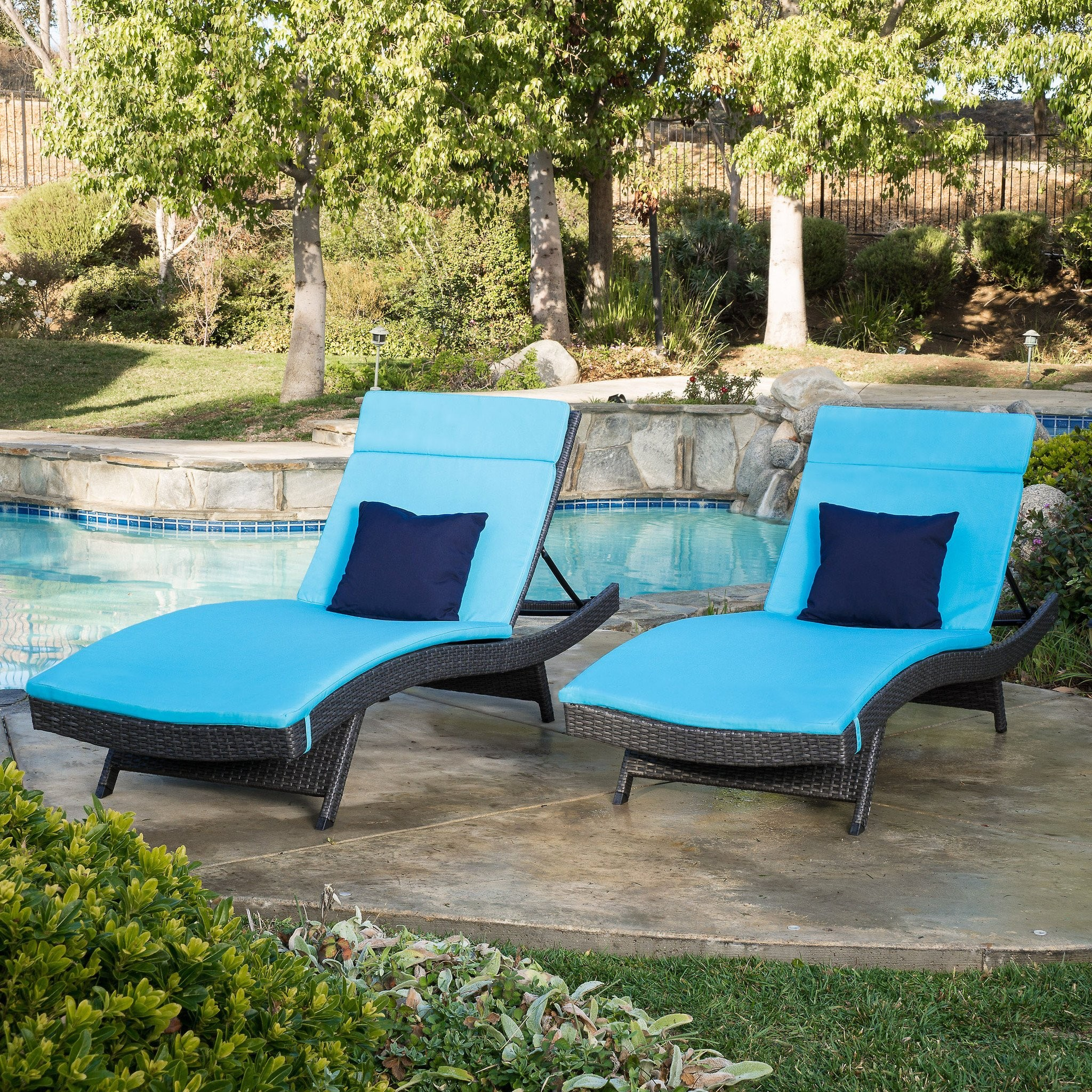 Nassau Outdoor Grey Wicker Adjustable Chaise Loung...