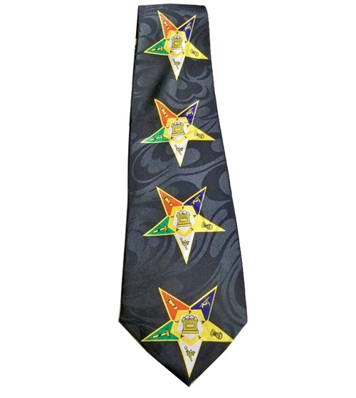 OES Neck Tie - Colorful Order of the Eastern Star...