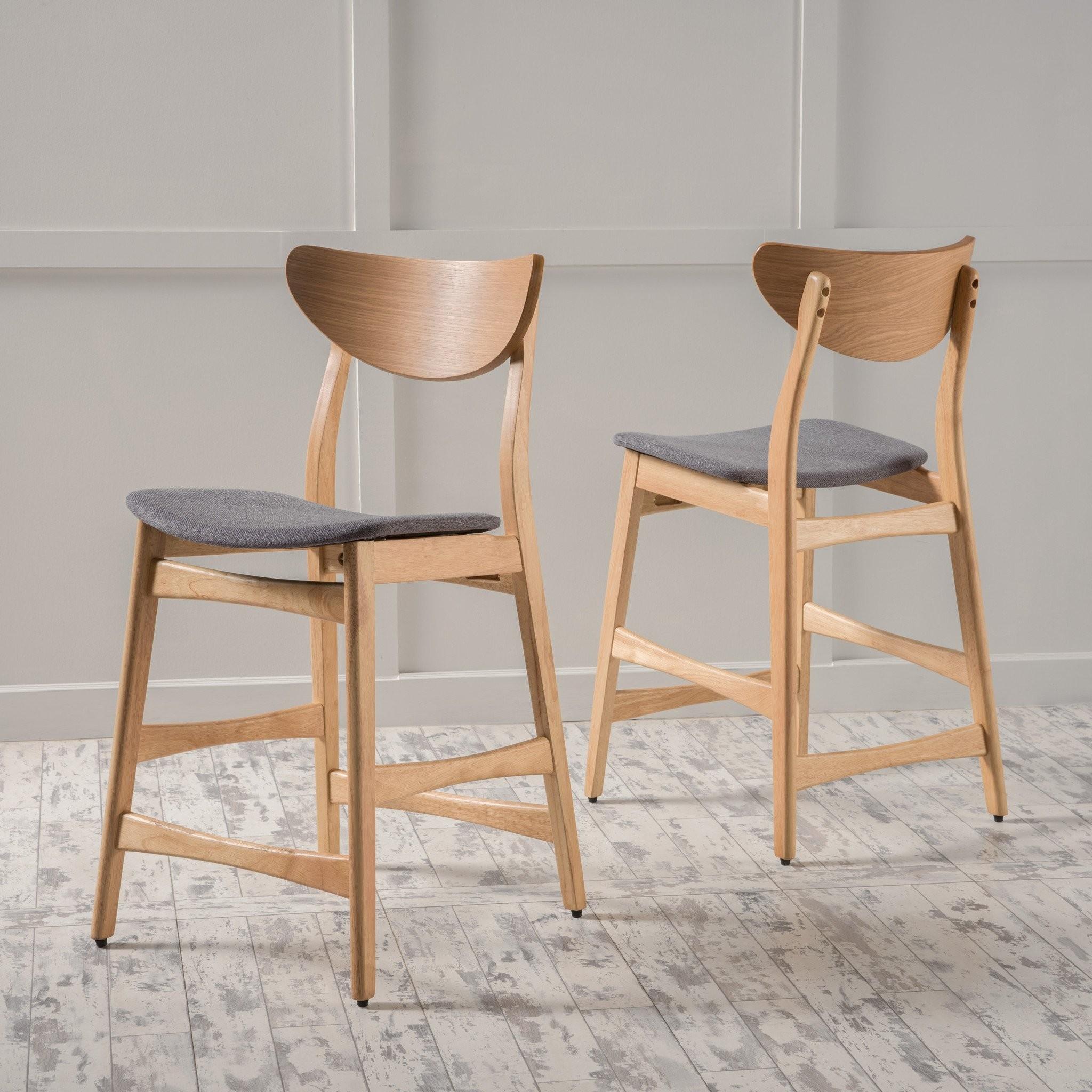 Set of 2 Molle Mid Century Design Counter Stools