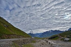 Rohtang Pass, is a high mountain pass on the easte...