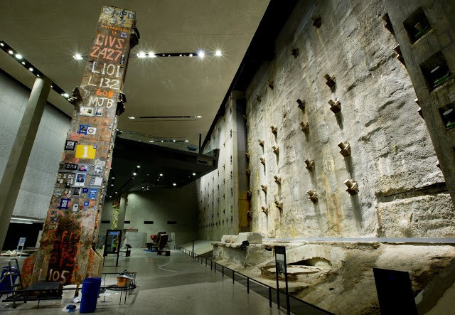 9-11 Memorial Museum in New York City with 3D scul...