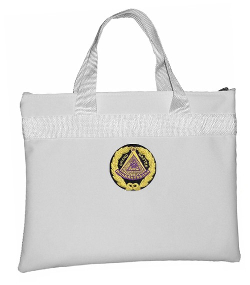 White Grand Master Masonic Tote Bag for Freemasons...