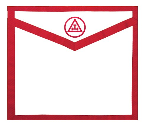 Masonic Royal Arch White and Red Duck Cloth Apron...