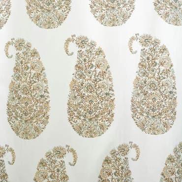 Paisley Park Tan Printed Cotton Twill Fabric