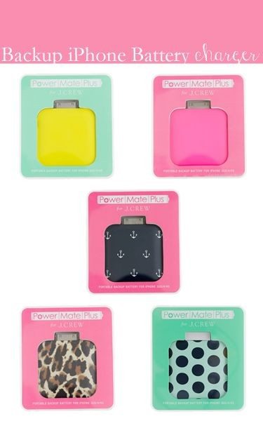 backup iPhone portable charger by j.crew. SO CUTE!...
