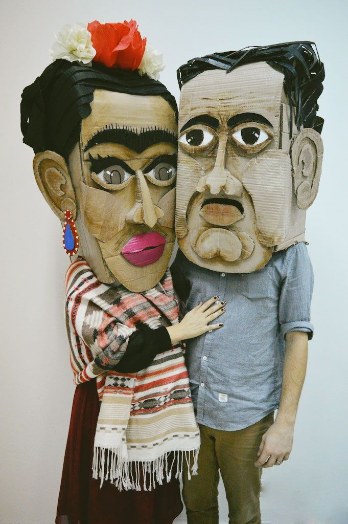 Frida & Diego with tutorial on how to make the...