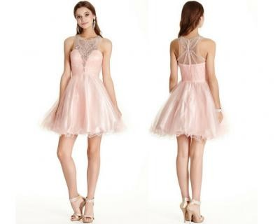 Short party dresses are a great way to add element...