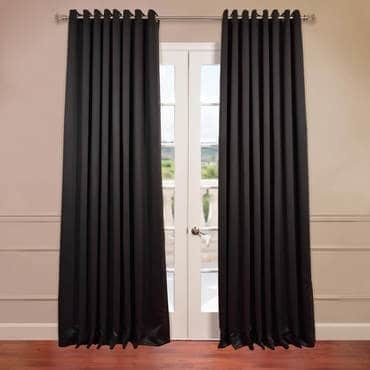 Jet Black Grommet Extra Wide Blackout Curtain
