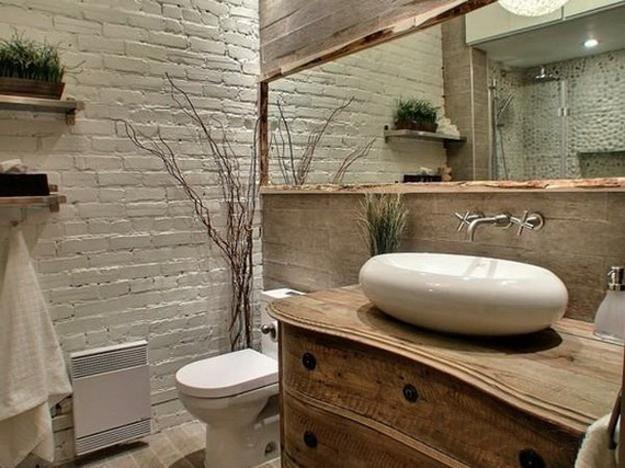 Painting Brick Interior Walls Ideas | Modern bathr...