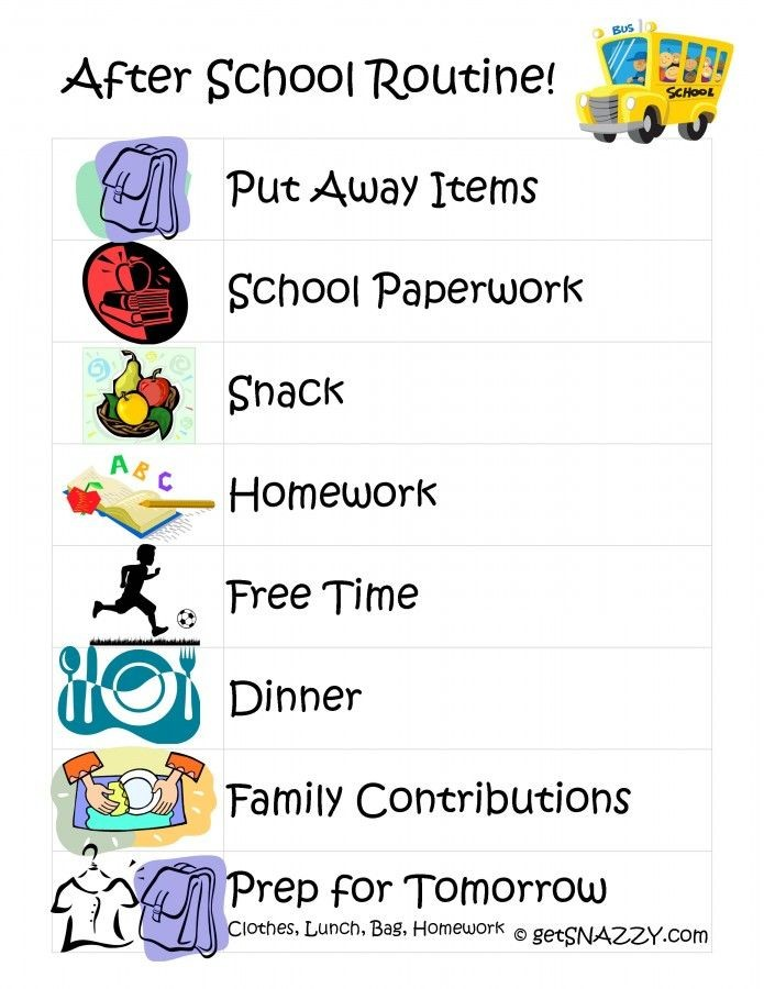 After School Routine for Kids get your life organi...