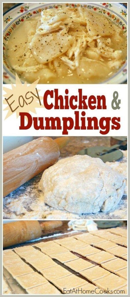 Easy Chicken Dumplings recipe. Delicious homemade...