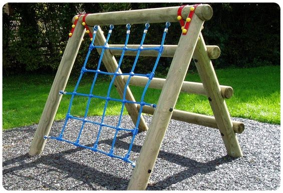 Childrens Rope Climbing Frame | Playground Wooden...