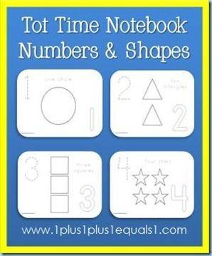Homemade Preschool Dry Erase Notebook:  Free print...