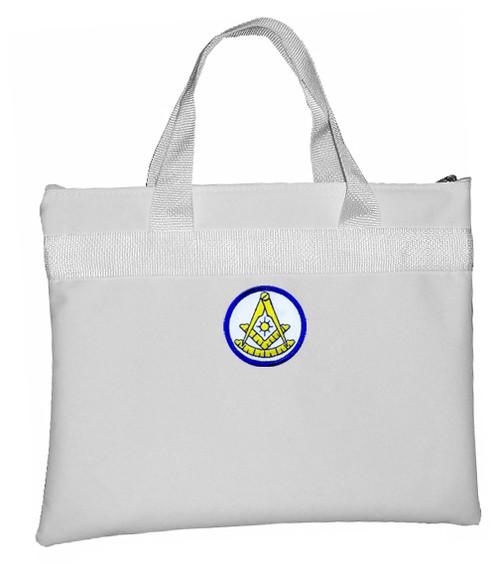 Past Master White Masonic Tote Bag for Freemasons...