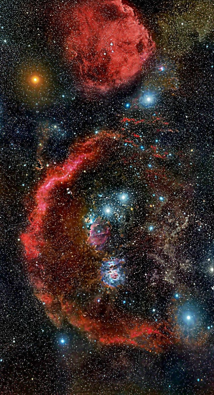 ~~Cradled in cosmic dust and glowing hydrogen, ste...