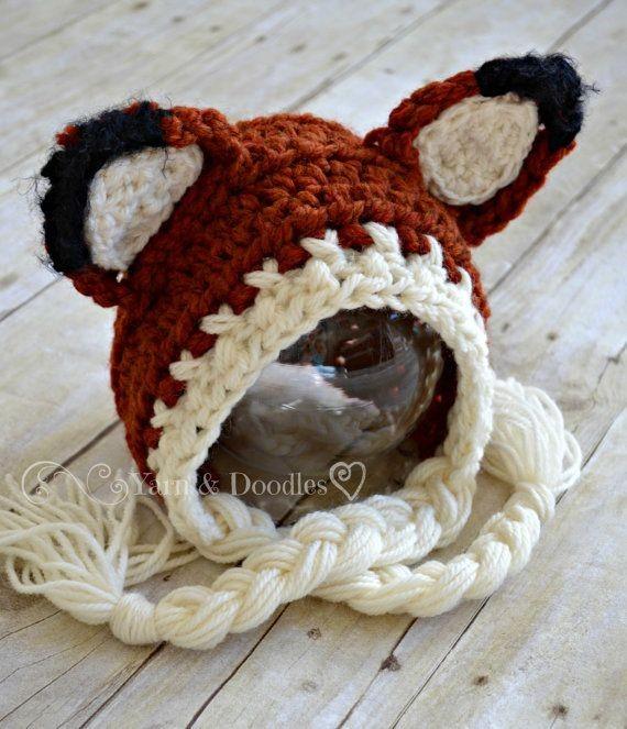 Woodland Fox Crocheted Baby Newborn Infant Photo P...
