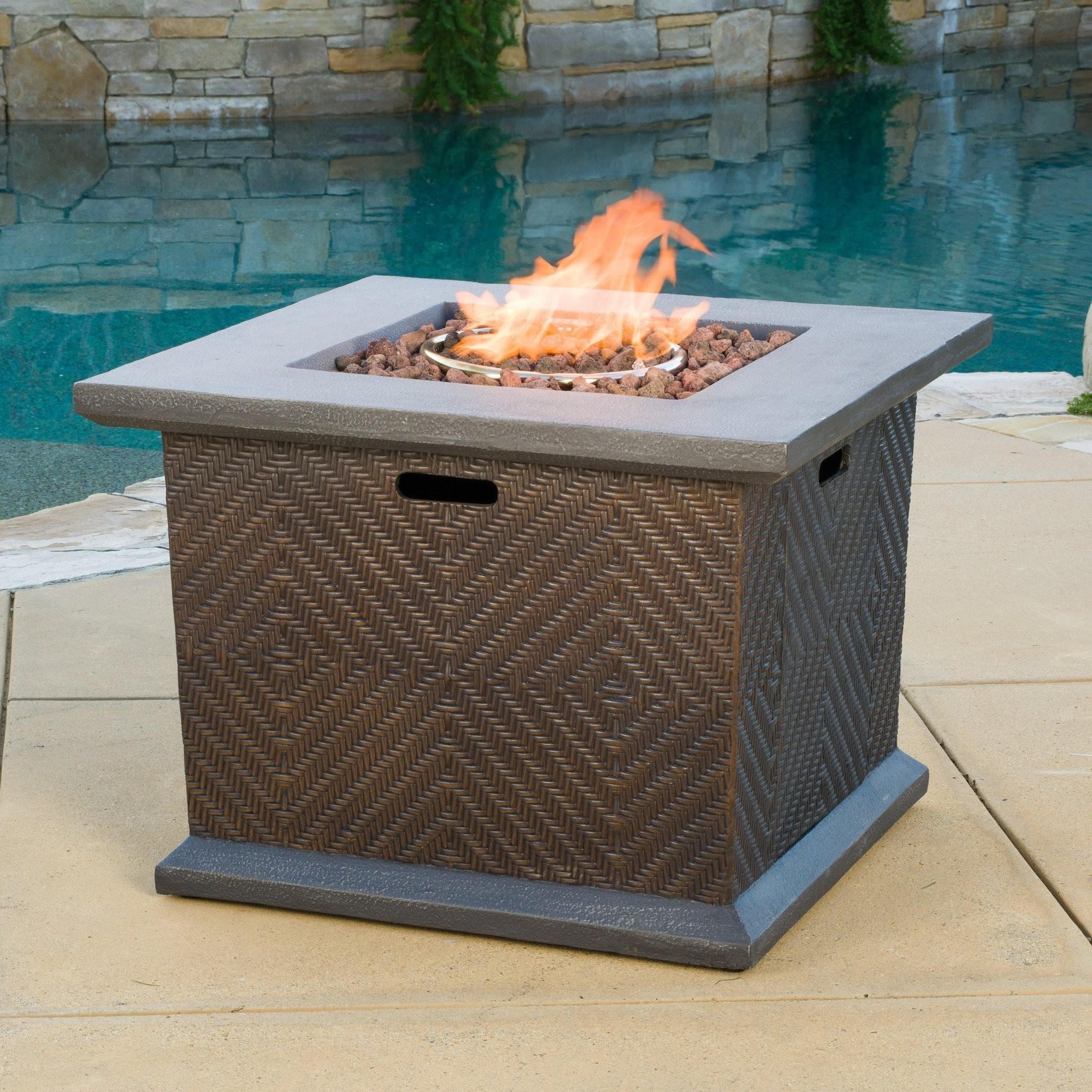 Clark Outdoor 32-inch Square Liquid Propane Fire P...