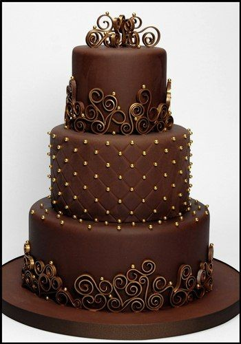 Chocolate & Gold. maybe not for my wedding. ba...