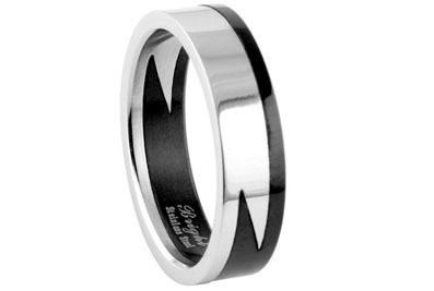 Stainless Steel - Lightning Style Biker Ring - Got...
