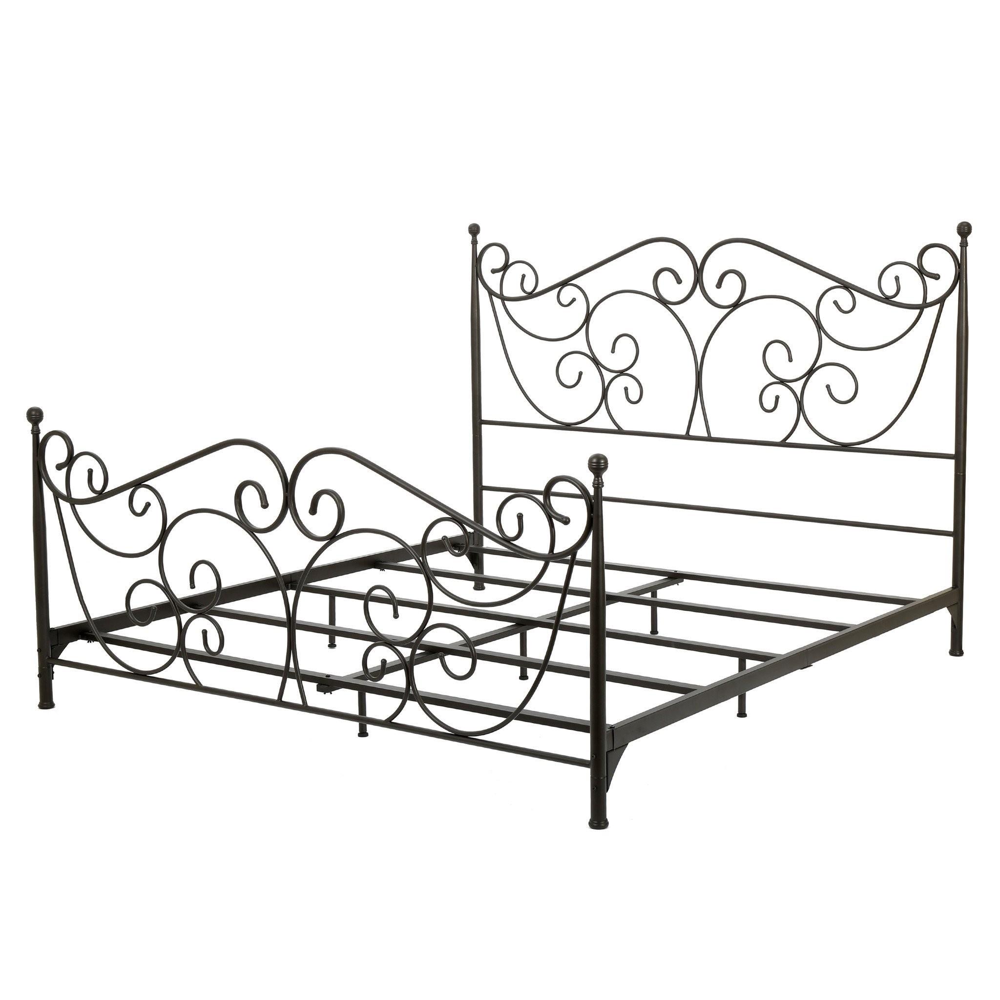 Denise Austin Home Horatio King Size Metal Bed Fra...