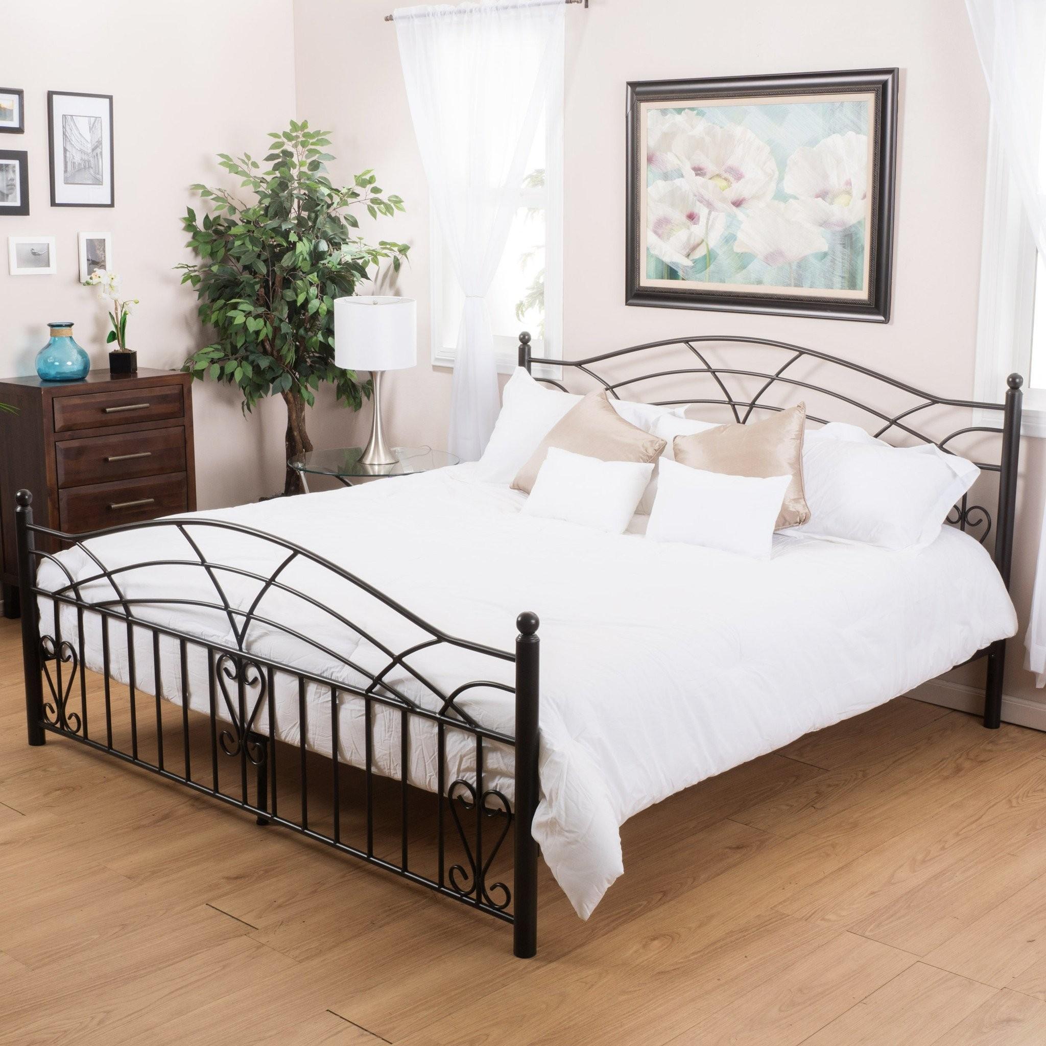 Edsel Cal King Size Black Finish Iron Bed Frame