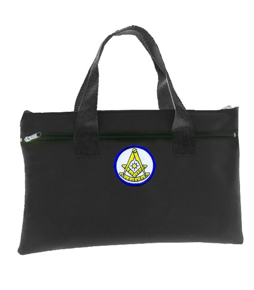 Past Master Black Masonic Tote Bag for Freemasons...