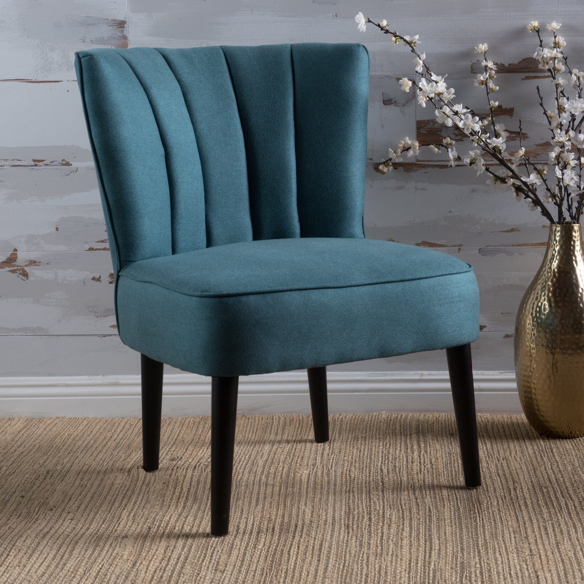 Leafdale Plush Fabric Accent Chair