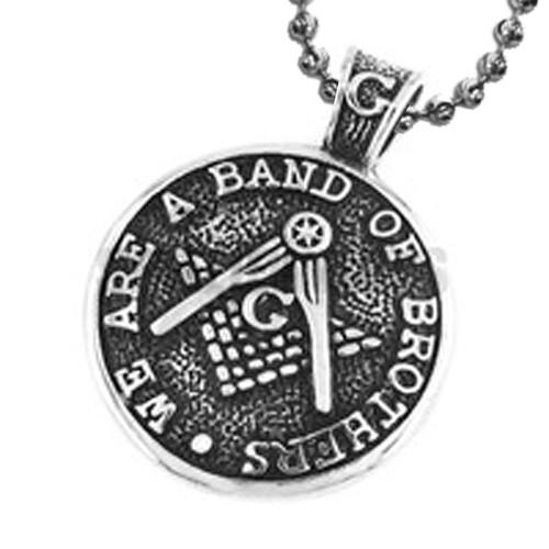 Traditional Style Freemason Pendant / Masonic Coin...