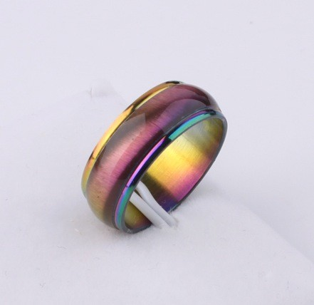 Anodized Rainbow Beveled Ring - Gay and Lesbian LG...
