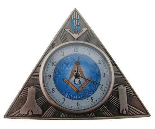 Freemason Gift - Mini Triangle Desk Clock - Masoni...