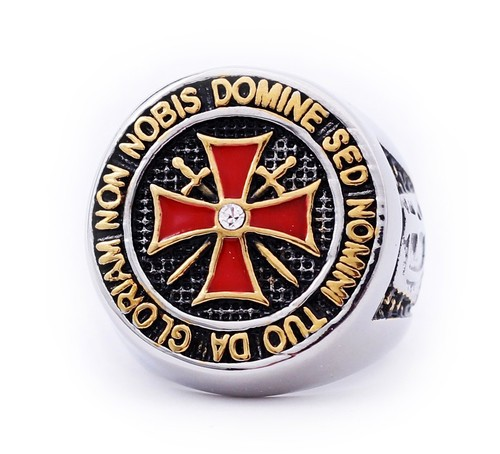 Colorful Stainless Steel Knights of Templar Red Cr...