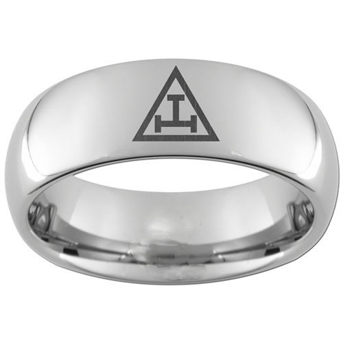 Royal Arch Tungsten Steel Ring Band for Freemasons...