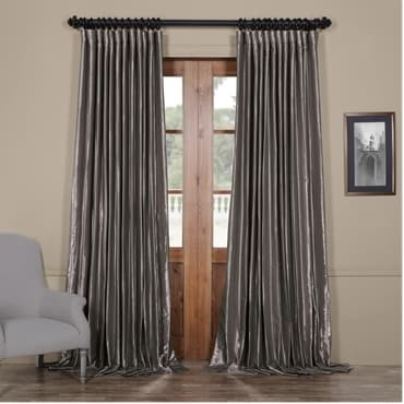 Polished Silver Blackout Extra Wide Faux Silk Taff...
