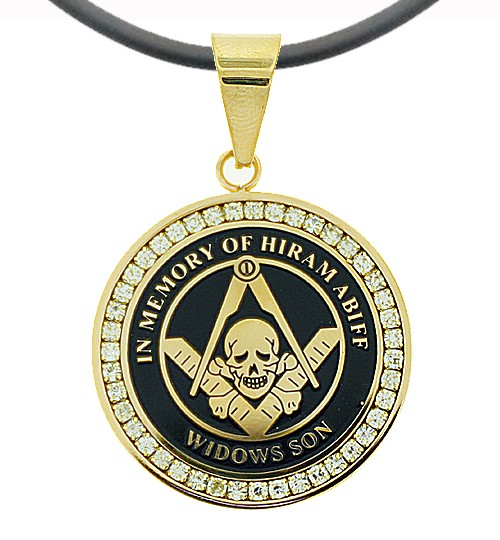 Widows Sons - Gold Color Stainless Steel Masonic F...