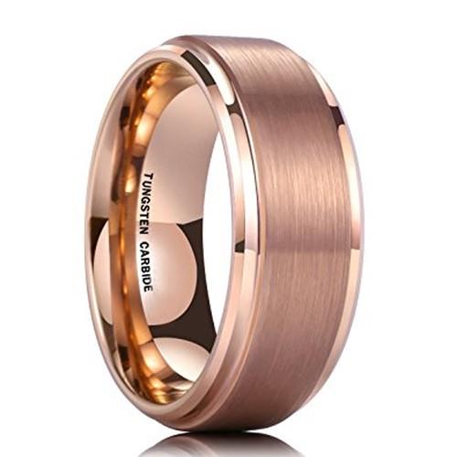 8mm - Unisex or Men's Tungsten Wedding Bands -...