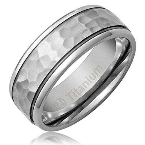 8mm - Unisex or Men's Titanium Wedding Bands....