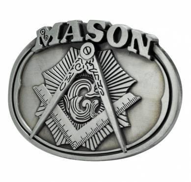 Freemason Belt Buckle / Masonic Buckle - Silver To...