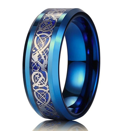 8mm - Unisex or Men's Tungsten Wedding Band. B...